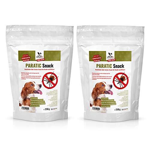 Dogs-Heart Anti-Zecken Snack für Hunde (Sparkombi 2 x 250g) - Natürliche Abwehr gegen Zecken, Flöhe und Milben mit Schwarzkümmelöl - Auch für Welpen (2 Monatspackungen für Hund mit ca. 25kg)