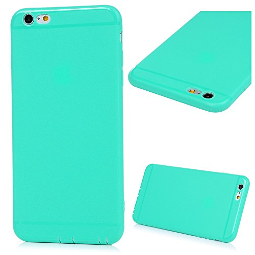 3x Cover iPhone 6s, iPhone 6 Custodia Silicone Morbido Trasparente TPU Flessibile Gomma design IMD - MAXFE.CO Case Ultra Sottile Cassa Protettiva per iPhone 6/6S - Penguin, macarons, cerchi colorati Rosa chiaro, Rosso, Verde menta