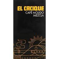 El Cacique Café Molido Mezcla Tueste Natural y Torrefacto - 250 g