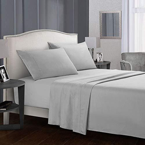 KAMIER Heimtextilien Bettwäscheset Bettwäsche Bettbezug Kissenbezug/Bettbezug Bettgarnitur aus Vier grauen California King-Sets (Vier Sets)