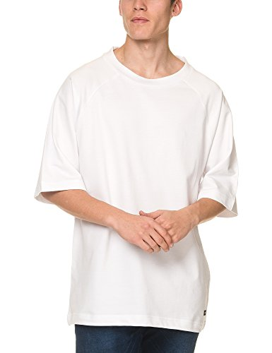 dr-denim-jeansmakers-mens-thorn-mens-white-oversized-tee-in-size-l-white