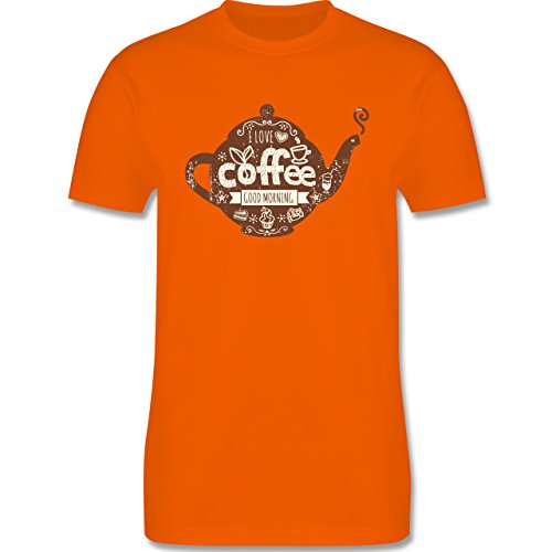 Statement Shirts - I Love Coffee Kanne - Herren Premium T-Shirt Orange