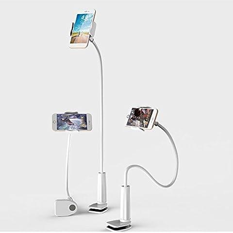 VictoryCN Support de serrage iPad stand Holder bureau col de cygne flexible réglable téléphone / support de la tablette d'angle pivoter à 360 ° pour 4-11 pouces Android et Apple périphérique(Extended 65 cm)