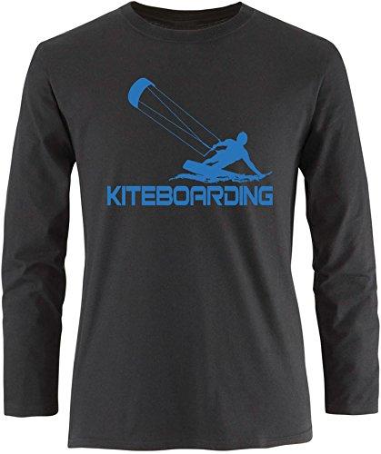 EZYshirt® Kiteboarding Herren Longsleeve Schwarz/Blau