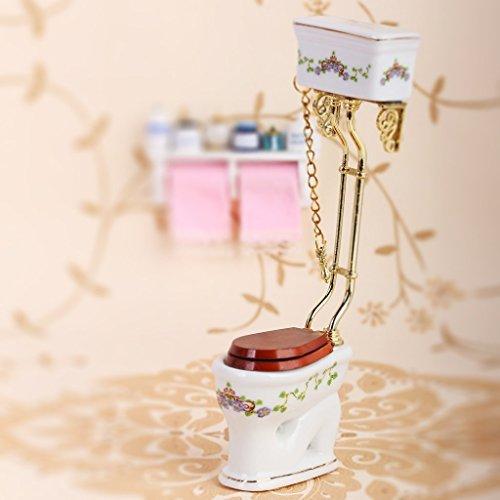 Nalmatoionme retro casa delle bambole in miniatura bagno in porcellana igienica