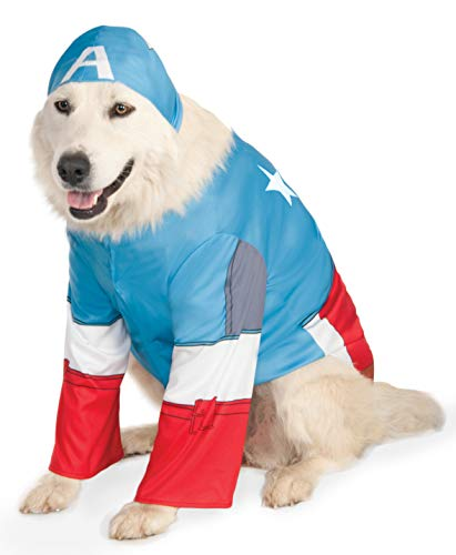 Rubies Costume Company Marvel Universe Captain America Big Dog Boutique (Captain America Pet Kostüm)