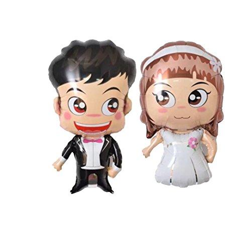 RepairMedia-Shop ★RM★ Folienballon XXL Luft Ballon Hochzeit Wedding Party Brautpaar Mann Frau Paar 77cm Liebe Love P080 ★RM★