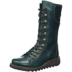 Fly London Ster768fly Botas Mujer, Verde (Petrol), 37 EU (4 UK)