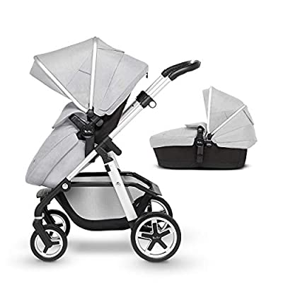 Silver Cross Pioneer Pram and Pushchair, Platinum