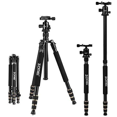 Top Point-and-shoot-kamera (Kamerastative,Zomei Kompaktes und Leichtes Aluminium-Stativ, verstellbares Einbeinstativ mit 360°-Schnellkugelkopf,1/4