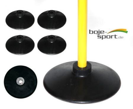 4er Set Vollgummi-Standfuß / Tellerfuß aus Vollgummi / Ersatzfuß für Multitrainer Set / Standfuß für Slalom, schwarz