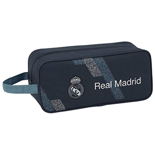 Real Madrid CF- Zapatillero Real Madrid, Color Azul, 34 cm (SAFTA 811834194)