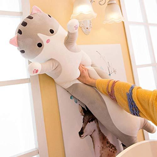 N//C Peluche Kawaii Mentira Gato Relleno Lindo Gatito Mu/ñeca Encantadora Animal Almohada Suave Coj/ín de Dibujos Animados Kid Room Decoraci/ón 30Cm