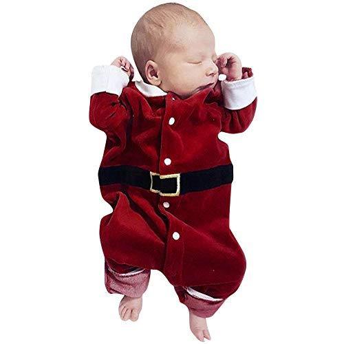 MIRRAY Weihnachten Kleinkind Baby Jungen und Mädchen Lange Hülsen Spielanzug Overall Kleidung