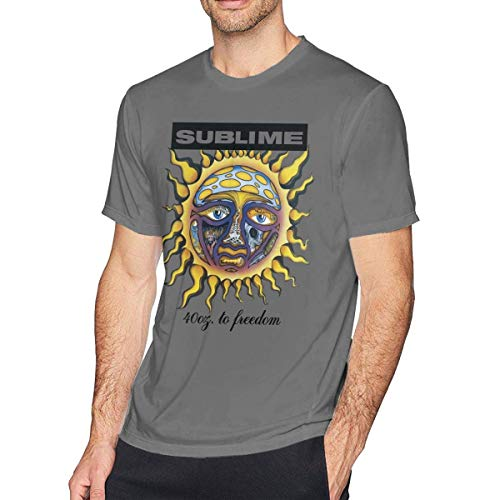 Men's T-Shirt Sublime 40oz to Freedom Graphic Classic Short Sleeve Tee L -