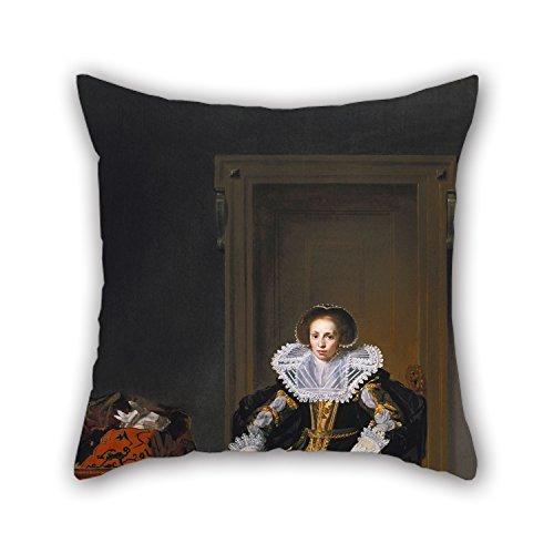 beautifulseason Kissen von Ölgemälde Thomas de Keyser-Portrait of A Lady 50,8x 50,8cm/50von 50cm, Passform für Sie, Stuhl, Hochzeit, Kinderzimmer, Jungen, Wohnzimmern Zwei Seiten (Muse Du Kostüm)