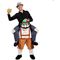 Caliente 7 opciones cerveza de Baviera Guy Ride On mascota Piggy Back Carry Me Oktoberfest Fiesta Disfraz Novelties disfraz de Leprechaun, Beerman