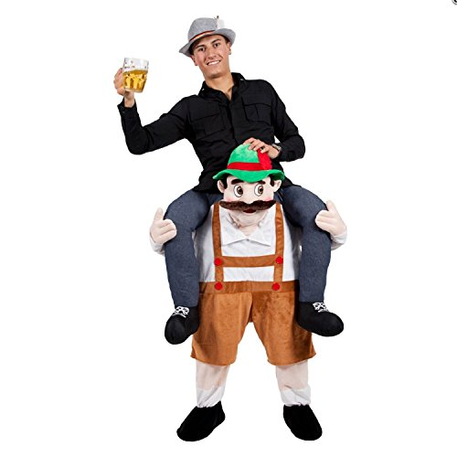 Hot 7 Choices Bayerische Bier Guy Ride On Maskottchen Piggy Back Carry Me Oktoberfest Party Kostüm Novelties Leprechaun Kostüm, Beerman (Fancy Dress Sport)