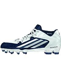 Adidas Crazyquick 2.0 hombre del fútbol de las grapas del 8,5 Blanca-marina de guerra
