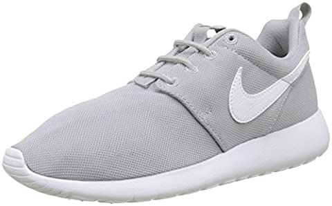 Nike Boys Roshe One (Gs) Low-Top Sneakers, Grey (Wolf Grey/White), 4 UK 36 1/2 EU