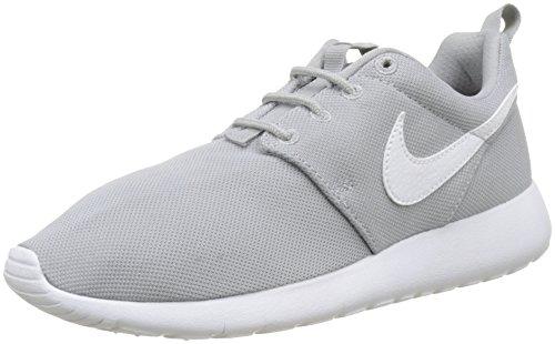 Nike Jungen Roshe One (GS) Sneakers, Grau (Wolf Grey/White), 38.5 EU (Kinder Roshe Nike Run Schuhe)