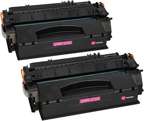 2 INK INSPIRATION® Premium Toner kompatibel für HP Q5949X Q7553X Laserjet 3390 3392 1320 1320n 1320tn 1320nw M2727nf M2727nfs MFP P2014 P2015 P2015d P2015dn P2015x | 7.000 Seiten