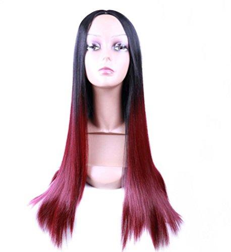 gbdsd Damen Haar Perücke New Fashion Lange Gerade Haar Hitzebeständige Perücke für Cosplay Party Kostüm (schwarz und (Sie Spiel Ihre Eigenen Kostüm Machen)