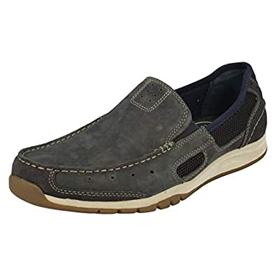 Clarks Men's Ramada Spanish Blue Leather Loafers and Mocassins - 10.5 UK