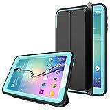 PROTECK Funda para Samsung Galaxy Tab A 10.1 - Cubierta con【Película Protectora Incorporada】+【Función Auto-Sueño/Estela】+【A Prueba de Choques】 - Azul