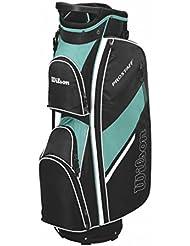 Wilson Pro Staff Femme Sac de Cart, Sac de Golf avec 14 Compartiments, Pour une Utilisation avec Cart ou Trolley, Couleur: Noir/Vert, WGB5302MT