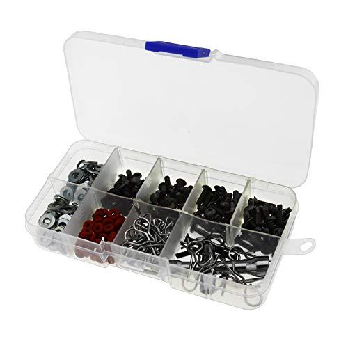 ENET 270 pcs Vis Box Outil de réparation Assorties kit Fit pour 1/10 HSP RC Accessoires Auto