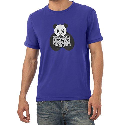 NERDO - Drink coffee, create stuff and sleep - Herren T-Shirt Marine