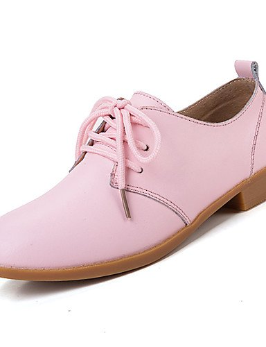 ZQ Scarpe Donna-Stringate-Casual-Comoda-Piatto-Di pelle-Nero / Blu / Marrone / Rosa / Bianco / Beige , blue-us5.5 / eu36 / uk3.5 / cn35 , blue-us5.5 / eu36 / uk3.5 / cn35 black-us5.5 / eu36 / uk3.5 / cn35