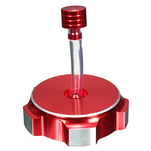 Viviance Alluminio Carburante Benzina Serbatoio Tappo Tubo di Sfiato per Pit Dirt Bike 50Cc 110Cc 125Cc - Rosso