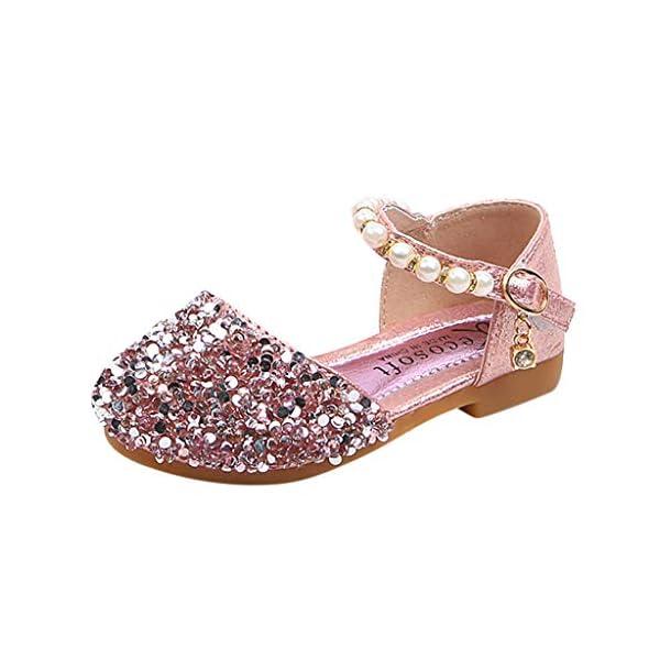 VECDY Zapatillas Bebe Niño, Sandalias Bebe Niñas Perlas, Lentejuelas Bling,Zapatos Princesa Sandalias para Bebé De… 1