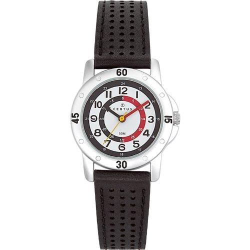 Certus 647494 - Reloj de aprendizaje de cuarzo para niño, correa de sintético color negro