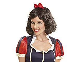 My Other Me Me-201384 Peluca blancanieves para mujer, Talla única (Viving Costumes 201384
