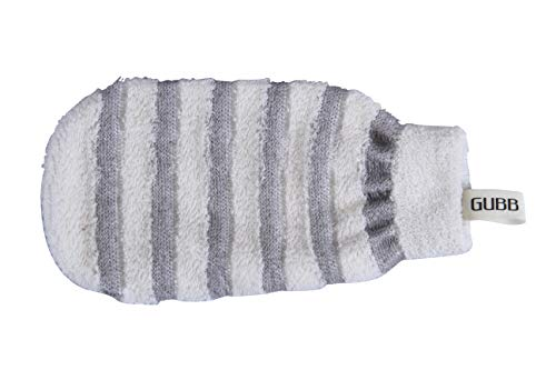 GUBB USA Bath Mitt Loofah Gloves For Men and Women Grey Color (Hand Wearable Scrubber)