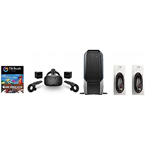 HTC Vive 5 Items Bundle: HTC Vive Virtual-Reality Headset & Alienware Area 51 Series Desktop Package 16GB 2TB 128SSD Bundle with 2 Mytrix High Quality HDMI Cable and 3 Gam(Versión EE.UU., importado)