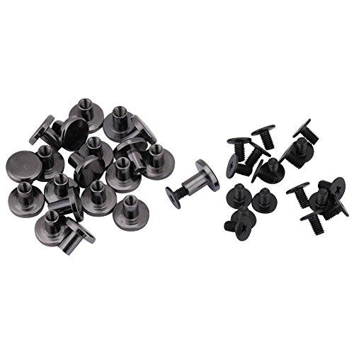 20 sets DIY Messing Flachkopf Gurtband Nieten + Schraube für Gepäck Lederhandwerk 5mm 8mm Nieten Strap Griff Tasche Zubehör(8mm) - Chicago-griff