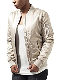 Urban Classics Ladies Satin Bomber Jacket, Chaqueta para Mujer
