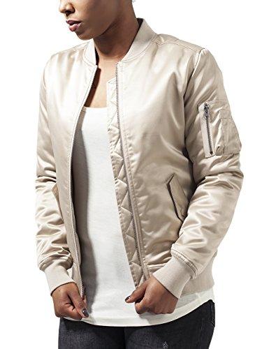 Urban Classics Damen Jacke Ladies Satin Bomber Jacket, Gold (Gold 109), 36 (Herstellergröße: S) (Shirt Klassische Womens L/s)