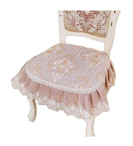 Elegante Spitze-Stuhl-Kissen, schöne dekorative Stuhl-Matten, Rosa, 17X16.5