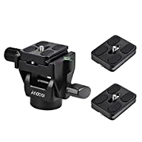 Andoer M-12 Monopod Tilt Head Telephoto Bird Watching with 3pcs Quick Release Plate