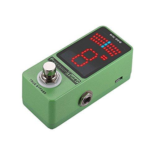 Festnight Display LED a pedale Precision Tuner con True Bypass per Chitarra basso