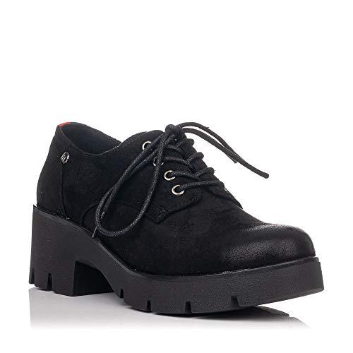 MTNG Collection 58856, Zapatos de Cordones Oxford para Mujer, Antil Negro C35442, 40 EU