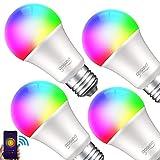 Smart LED-Lampe 2er Pack Gosund WLAN Mehrfarbige Dimmbare LED Glühbirne E27 2700 Kelvin 8W ersetzt 75 Watt, ohne Hub benötig, Kompatibel mit Alexa und Google Assistant, 800 Lumen, warmweiß