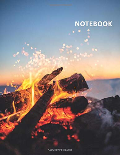 College Ruled Notebook: Beachfire Stylish Student Composition Book Daily Journal Diary Notepad for notes on teenage bonfire birthday party ideas