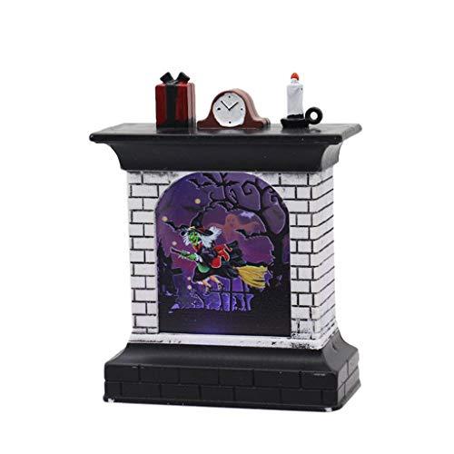 Kostüm Mann Komischer 2 - TIREOW 2x Halloweens LED Kamin Licht Nachtlicht Bar KTV Desktop Dekoration Requisiten, Batteriebetrieben (A)