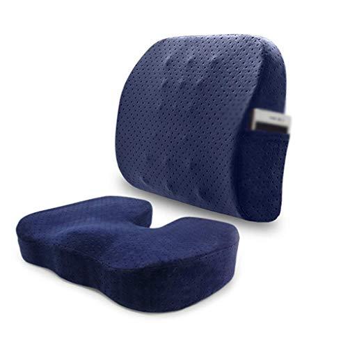 KongEU Orthopädisches Lendenwirbelstützkissen für Rücken, Steißbein Lendenwirbelsäule Unterstützung Schmerzlinderung für Bürostühle Autositz Liegestuhl Rollstuhl